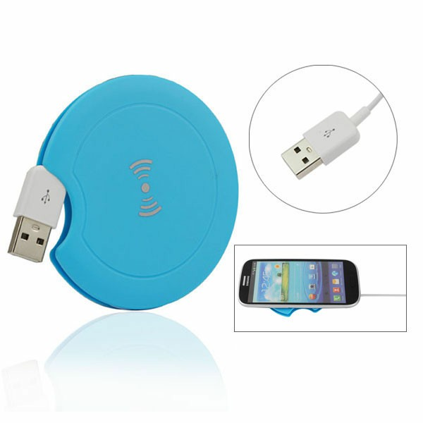 Qi Wireless Charger Transmitter for QI Standard Mobile Phone - Sky Blue
