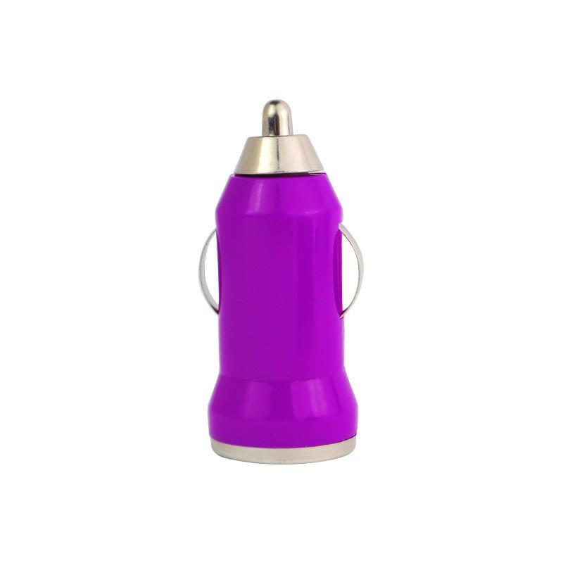 Mini Bullet USB Car Charger Adaptor - Purple
