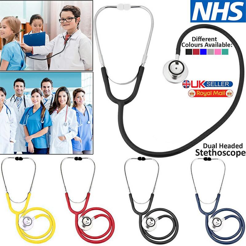Pro Dual Head EMT Stethoscope for Doctor Nurse Vet Medical Health - Black