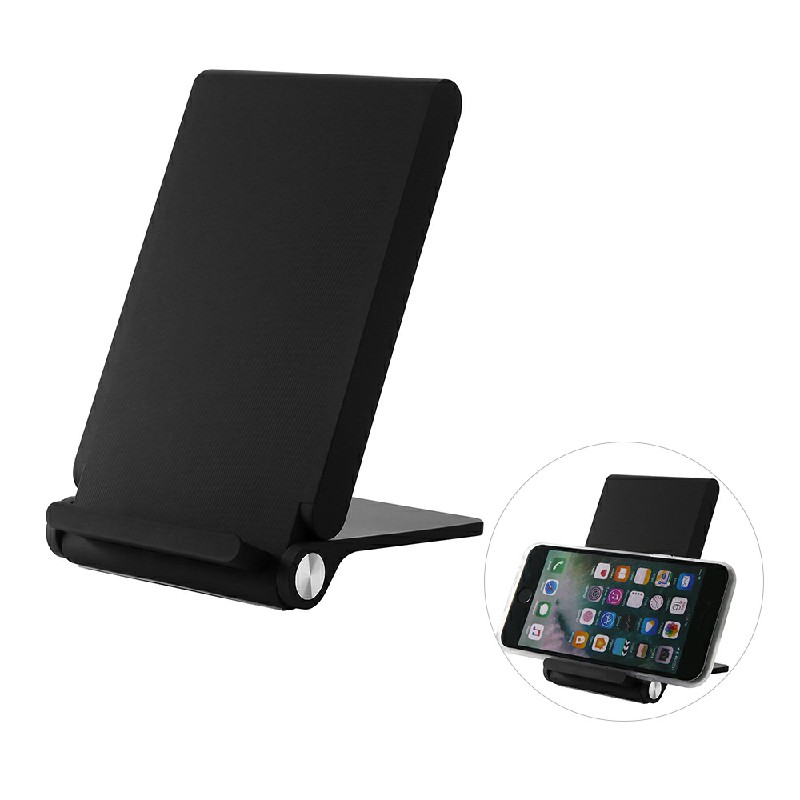T100 Fast Wireless Charger Foldable Portable Charging Pad with Stand Function - Black