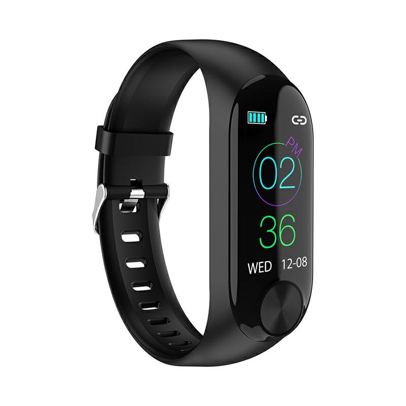 Y10 Sport Waterproof Smart Bracelet Blood Pressure Heart Rate Measurement Fitness Tracker Pedometer - Black