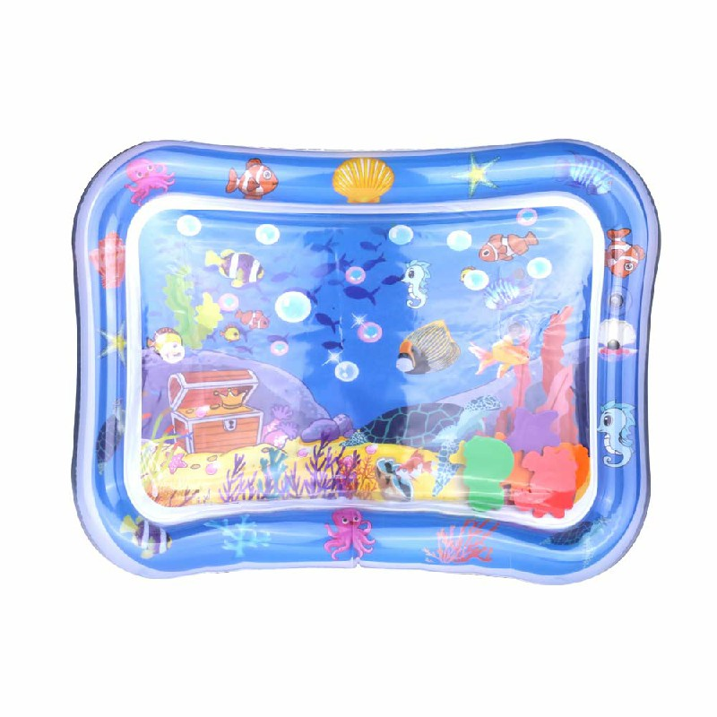 Large Inflatable Water Play Mat Infants Baby Toddlers Kid Perfect Fun Tummy Time - Ocean Pattern
