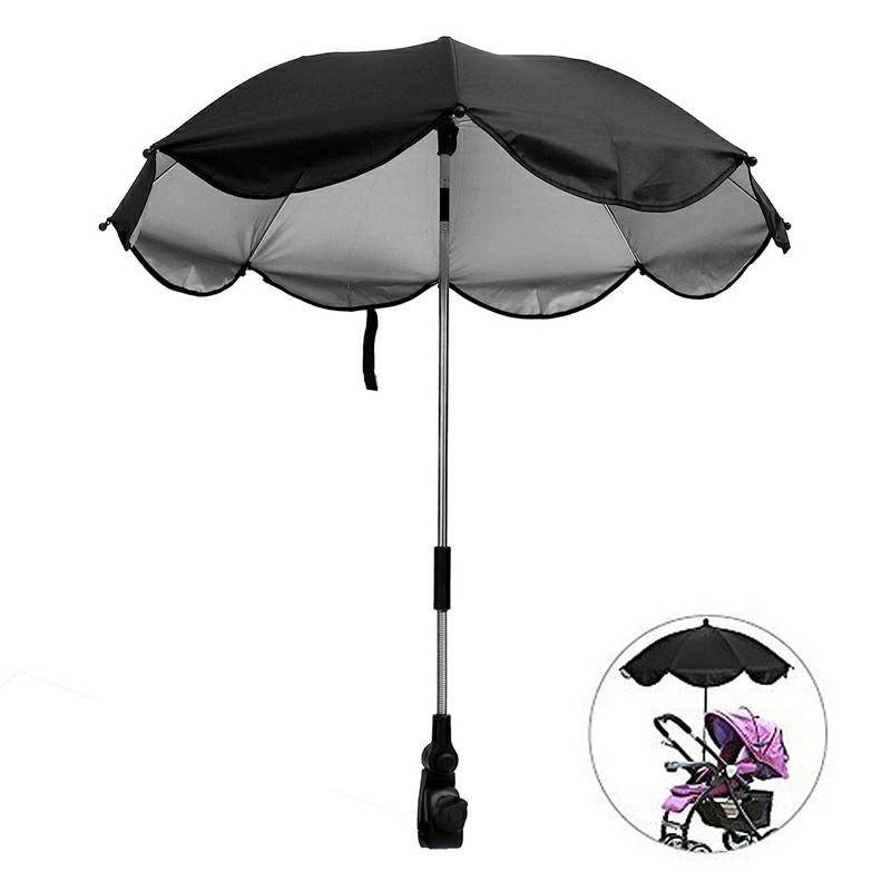 Universal Stroller Parasol UV Ray Shade - Black