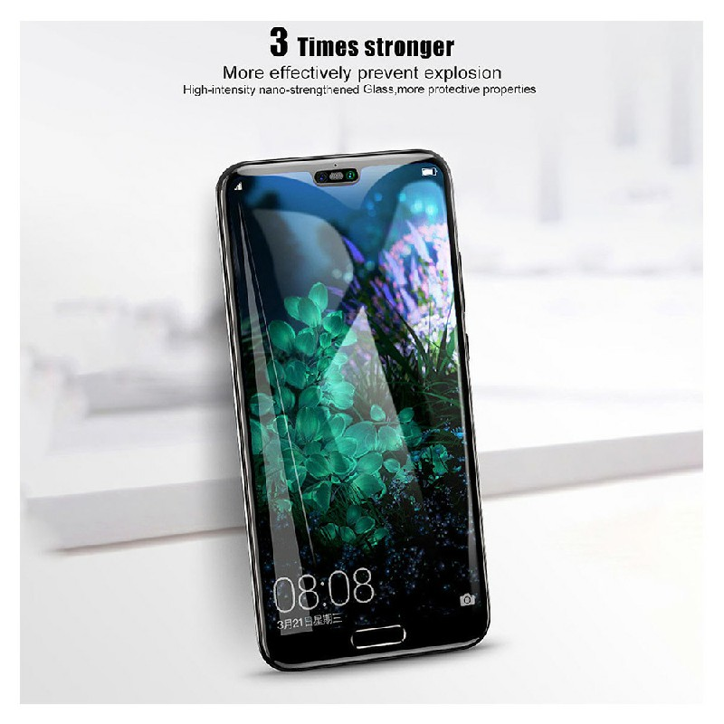Huawei P20 Pro Tempered Glass Shockproof Screen Protector - Black