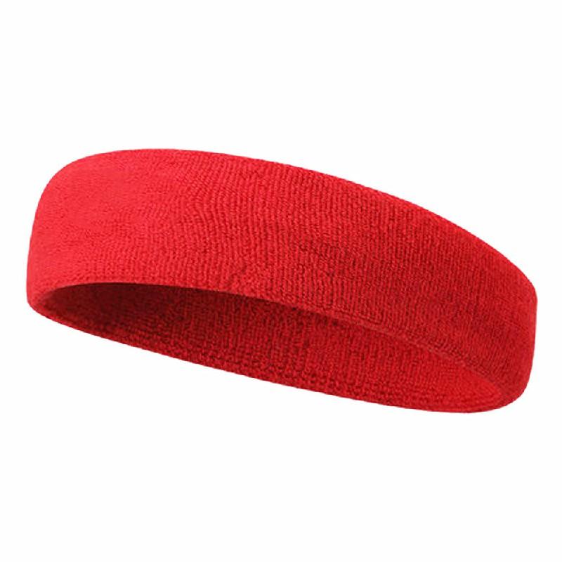 Unisex Sports Cotton Sweatband - Red