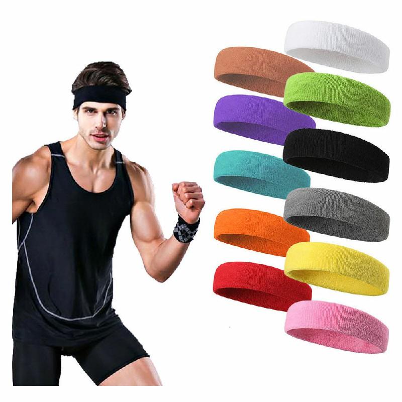 Unisex Sports Cotton Sweatband