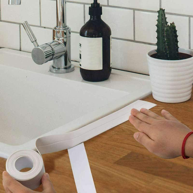 Caulk Tape Strip Bathroom Kitchen Self Adhesive Sealant Tape Edge Sink Wall - White
