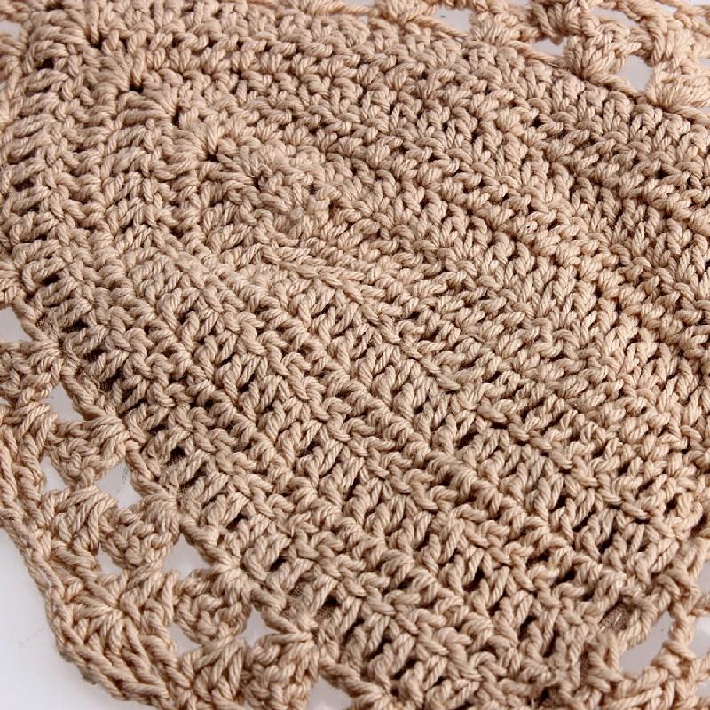 Crochet Lace Bralette Knit Bra - Khaki