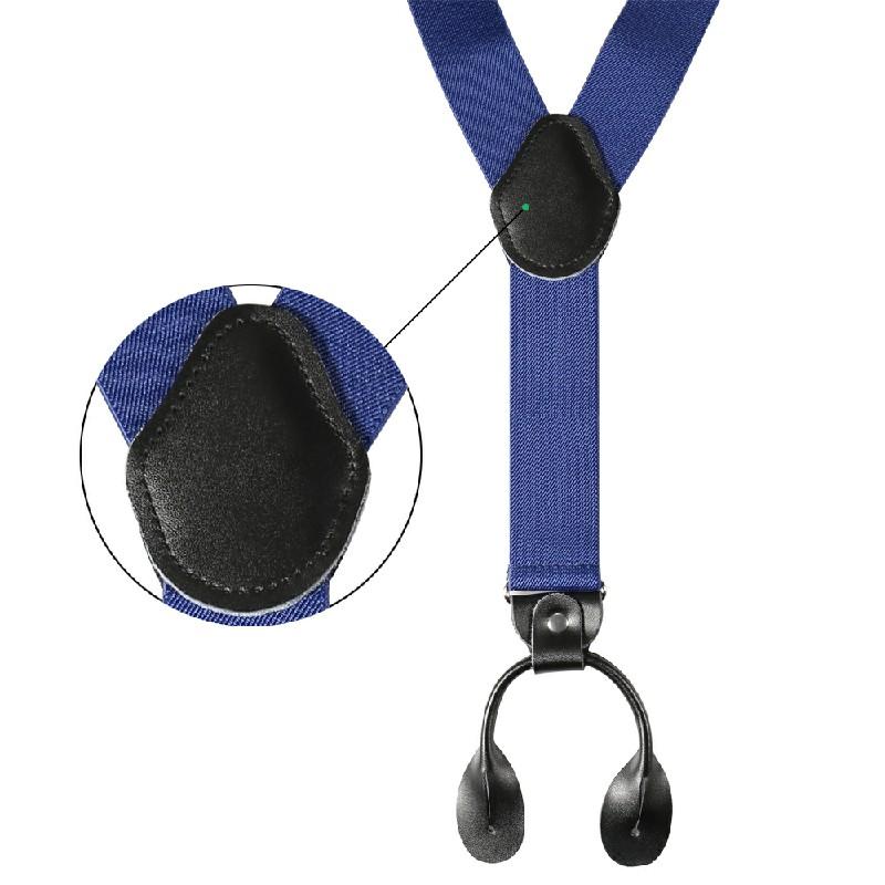 Men Trouser Belt Suspender Blue
