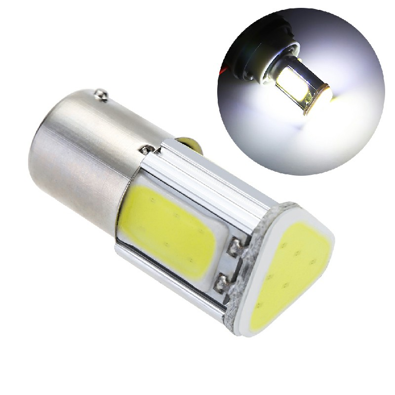 1156 COB LED 5W Car Turn Signal Reverse Back Light 12V - White Light