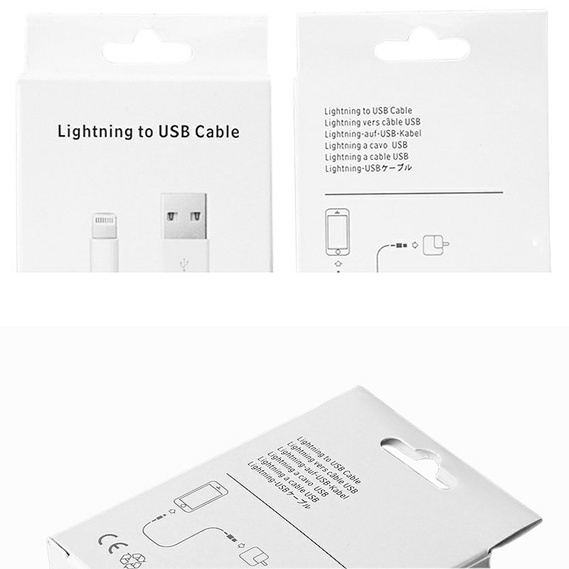 Lightning to USB Cable Packing Box Box Only Not Include Cable
