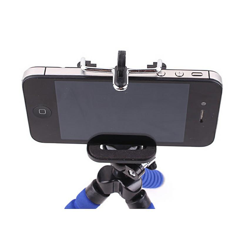 Octopus Mini TriPod Stand Grip Holder Mount Mobile Phones Cameras Holder Gadgets - Blue