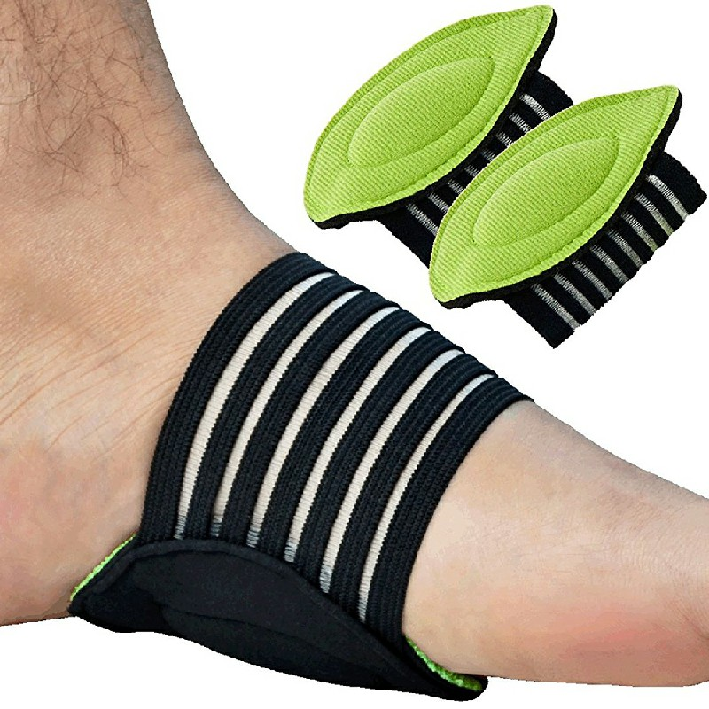 1 Pair Foot Arch Support Plantar Fasciitis Heel Pain Aid Feet Cushioned Wrap