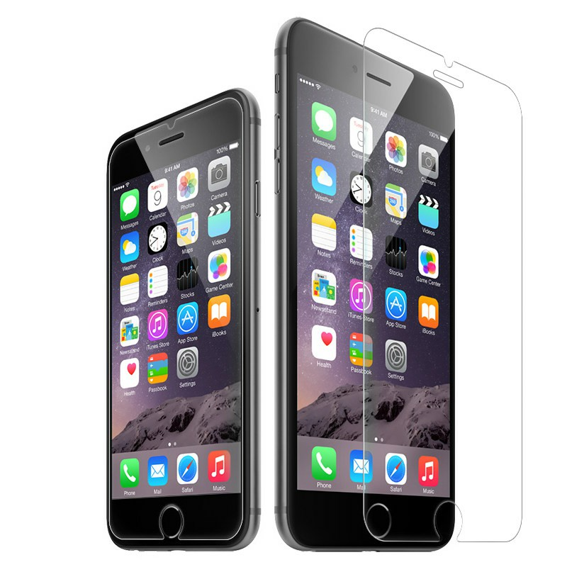 Straight Edge Tempered Glass Screen Protector Film for iPhone 7 / 8 Plus