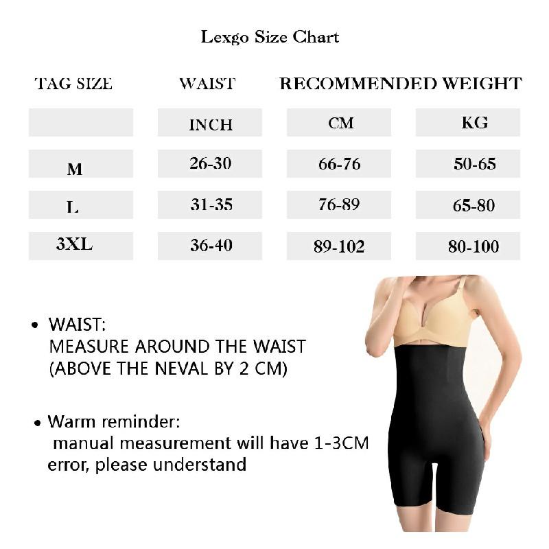 Women High Waist Fat Burner Body Slimming Shaper Tummy Control Shapewear Pants - XL/XXL Black