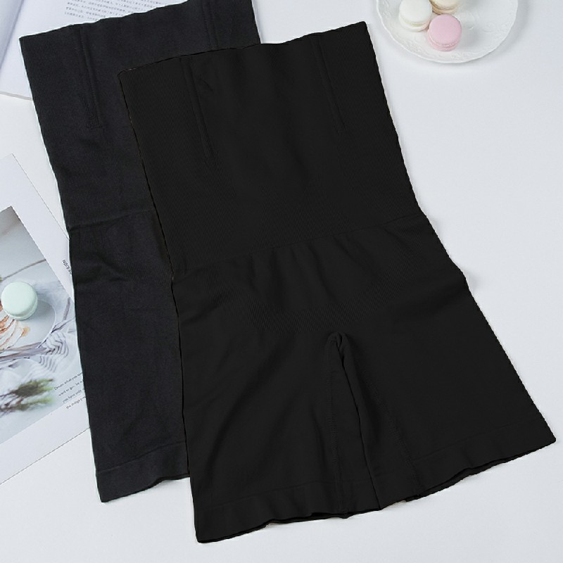 Women High Waist Fat Burner Body Slimming Shaper Tummy Control Shapewear Pants - M/L Black