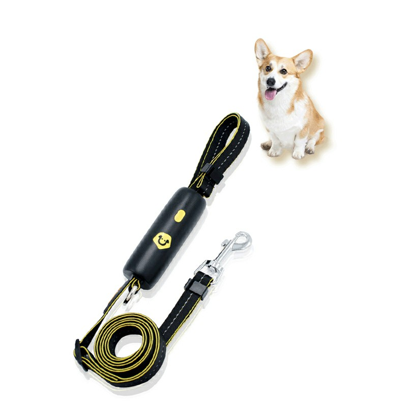 Extra Strong Reflective Rope Dog Lead with Foam Padded Handle Leash - Black