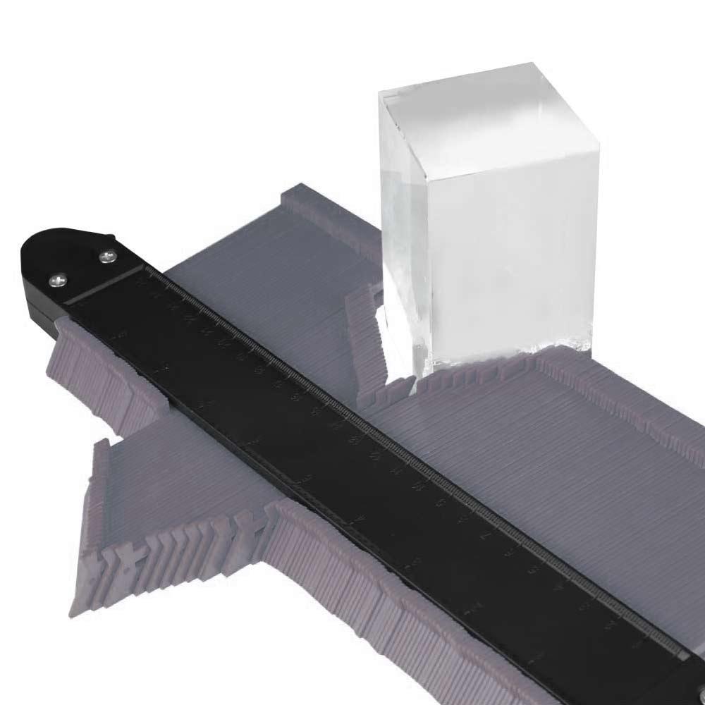 10 Inch Saker Upgrade Contour Gauge Profile Tool Contour Duplicator With 2 Locks - Grey