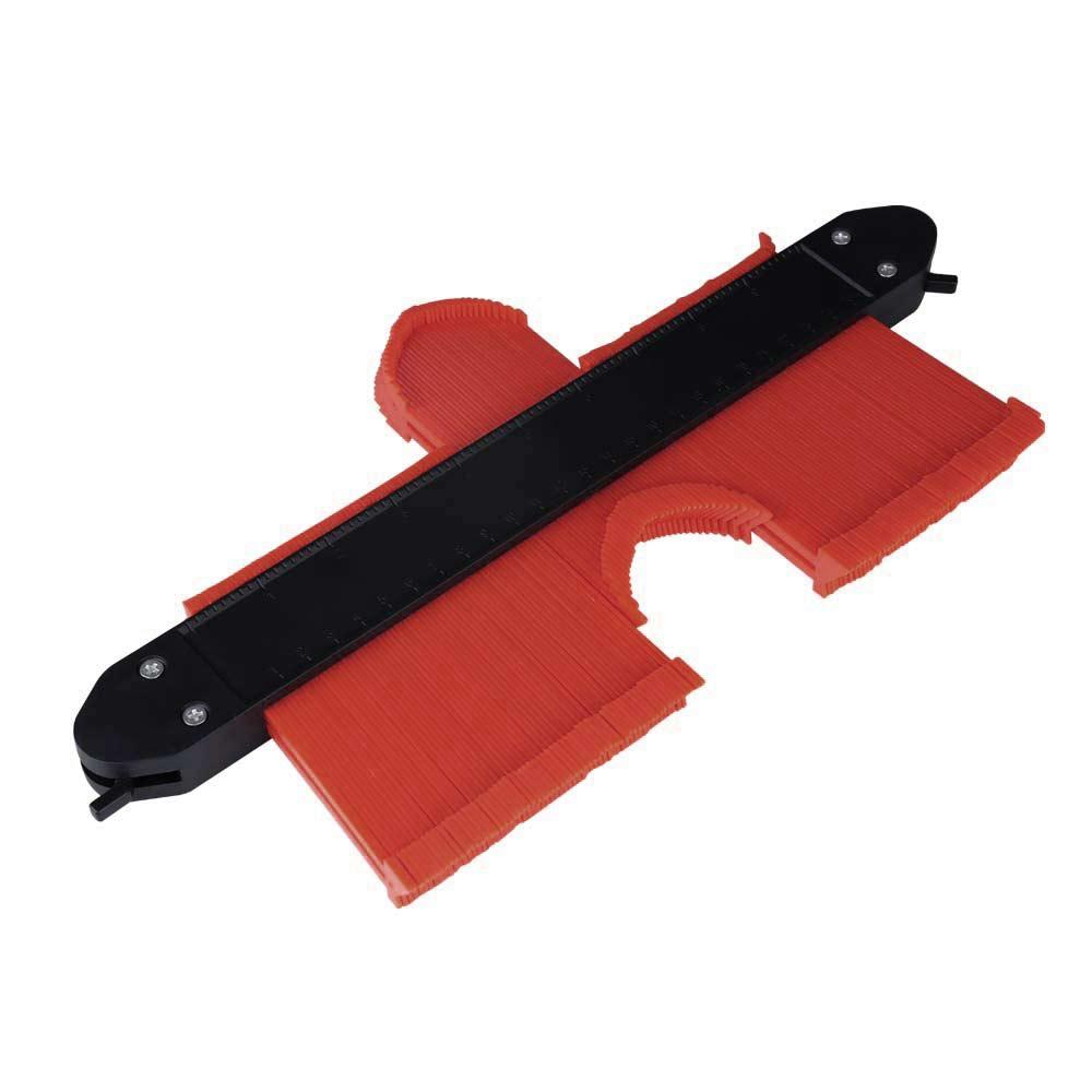 10 Inch Saker Upgrade Contour Gauge Profile Tool Contour Duplicator With 2 Locks - Red
