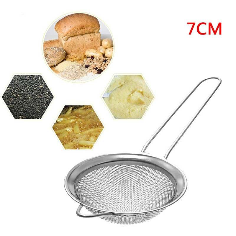 Stainless Steel Strainer Wire Mesh Classic Traditional Filter Sieve Spoon Kitchen Gadgets - 7cm