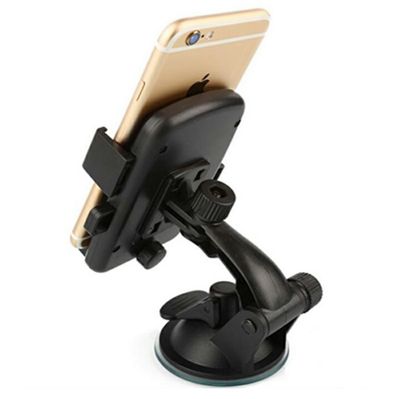 360 Degree Car Dashboard Suction Grip Phone Mount Holder Stand - Black