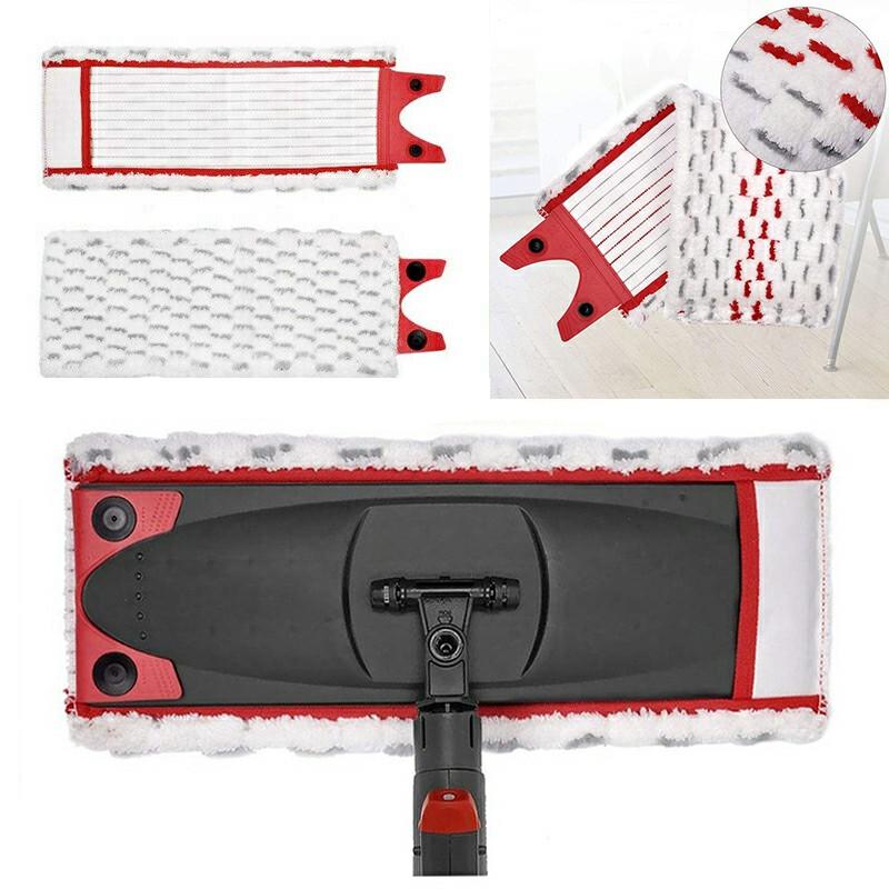 Single Buckle Replacement Household Mop Head Microfiber Mop Pads for Vileda 1 / 2 Spray Mop