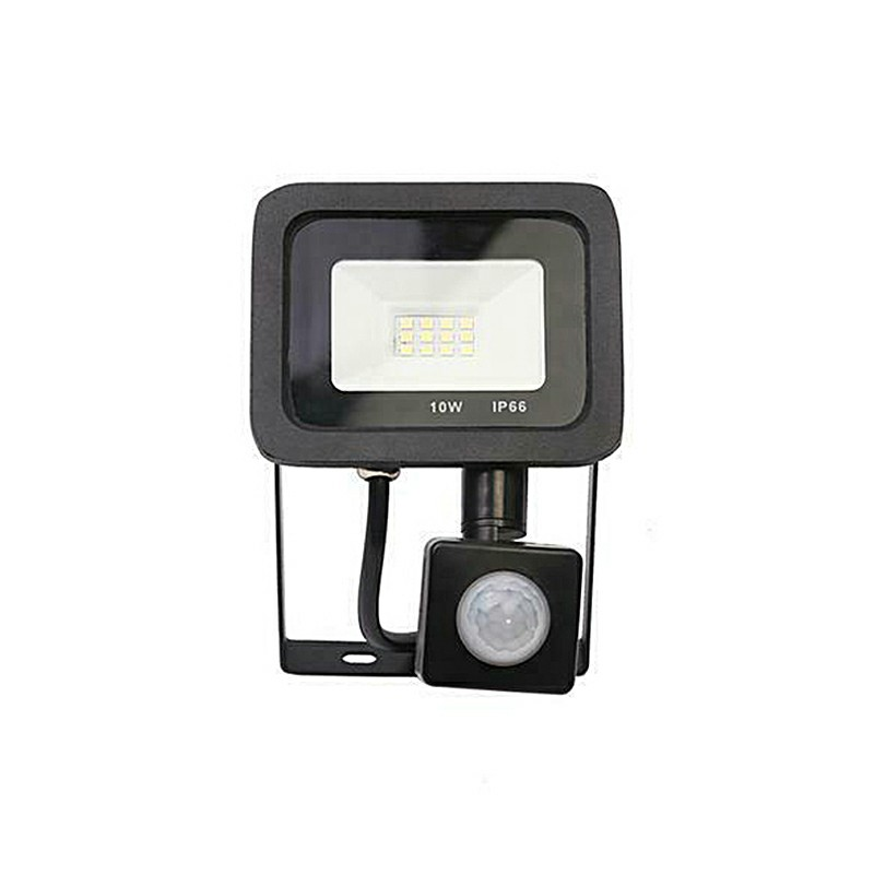 Outdoor Sensor Floodlight Security Light Flood LED with PIR Motion Sensor Slim Floodlight - 10W