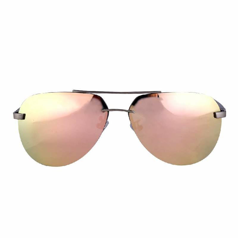 Aluminum Frame Polarized Sunglasses Mens Driving Glasses Outdoor Sports Goggles Eyewear - Pink