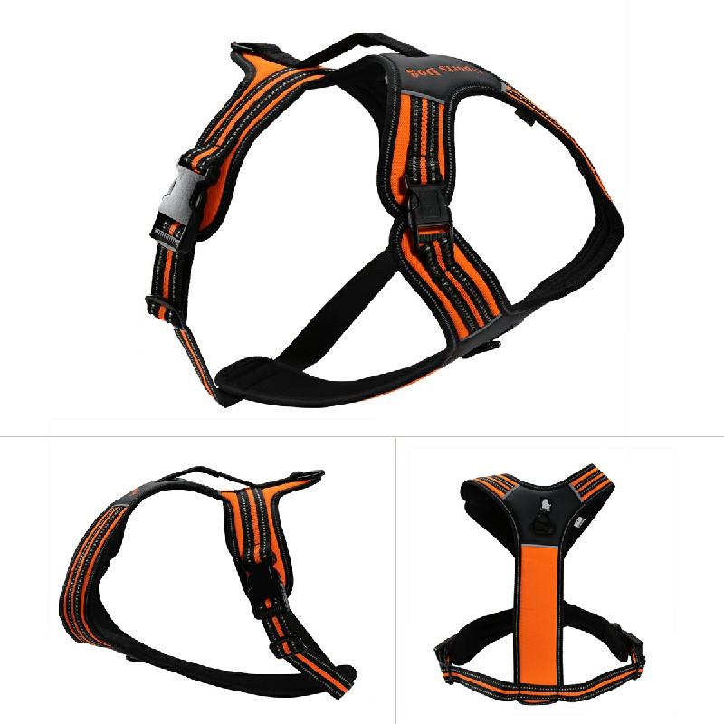 Pet Control Harness for Dog Easy Soft Walking Collar Vest Size S - Orange