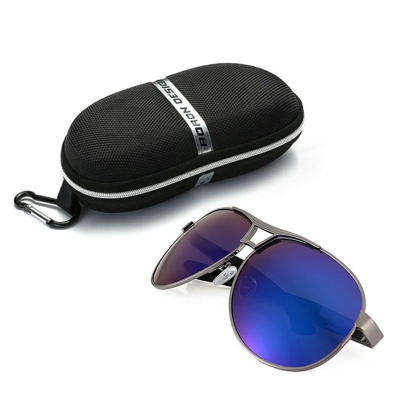 Men Polarized Retro Driving Aviator Sunglasses Outdoor Glasses Eyewear + Box - Blue