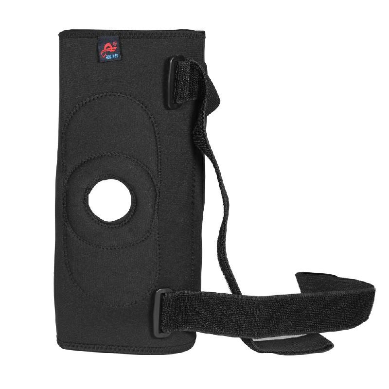 Medical Grade Hinged Neoprene Double Steel Plate Knee Brace Support Guard Stabilizer Strap - L