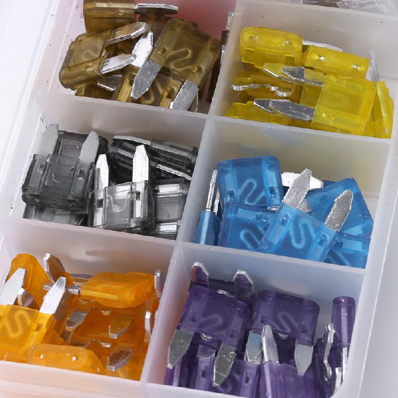 120 pcs 2-35 A Mini Car Blade Fuse Box Set Quality Assorted Van Truck Fuses - S
