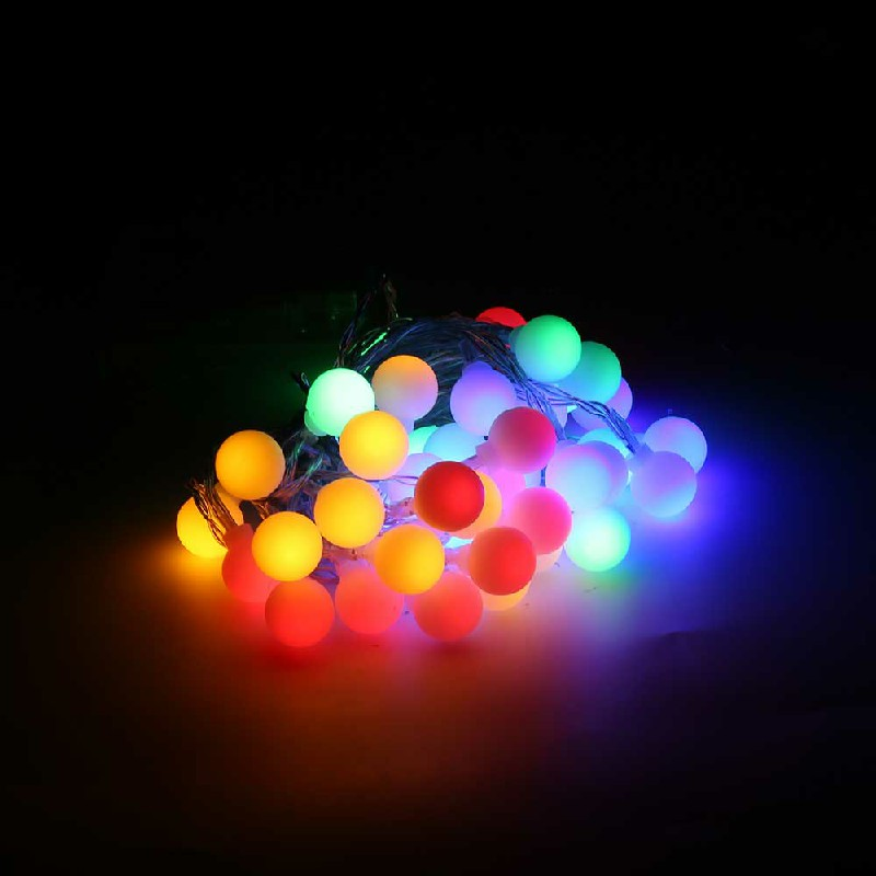 3m 20 LEDs Globe Bulb Ball Fairy String Lights Mains Plug In Garden Outdoor Indoor Xmas - Color Light