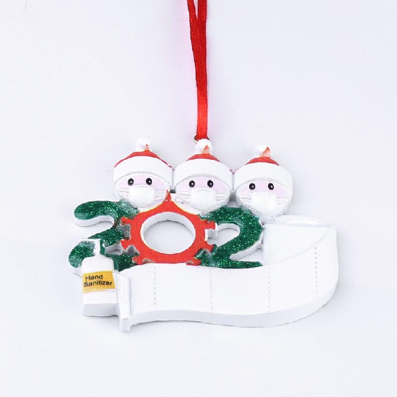 2020 NEW Xmas Christmas Tree Hanging Pendant Ornaments Family Ornament Decor - 3 Heads