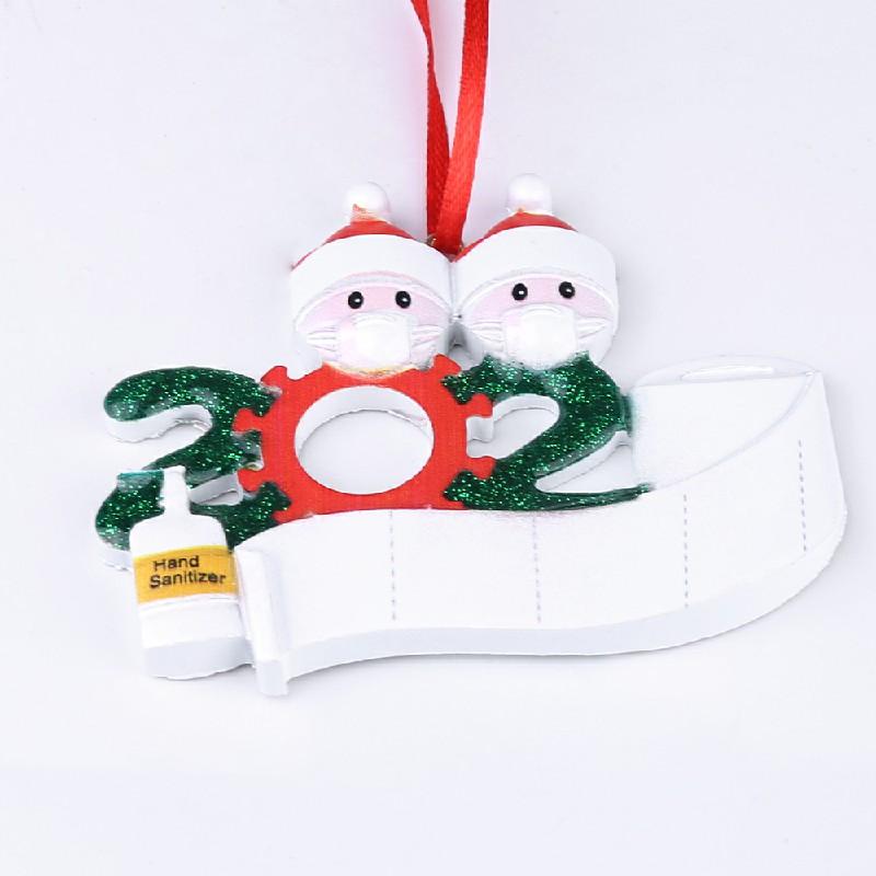 2020 NEW Xmas Christmas Tree Hanging Pendant Ornaments Family Ornament Decor - 2 Heads