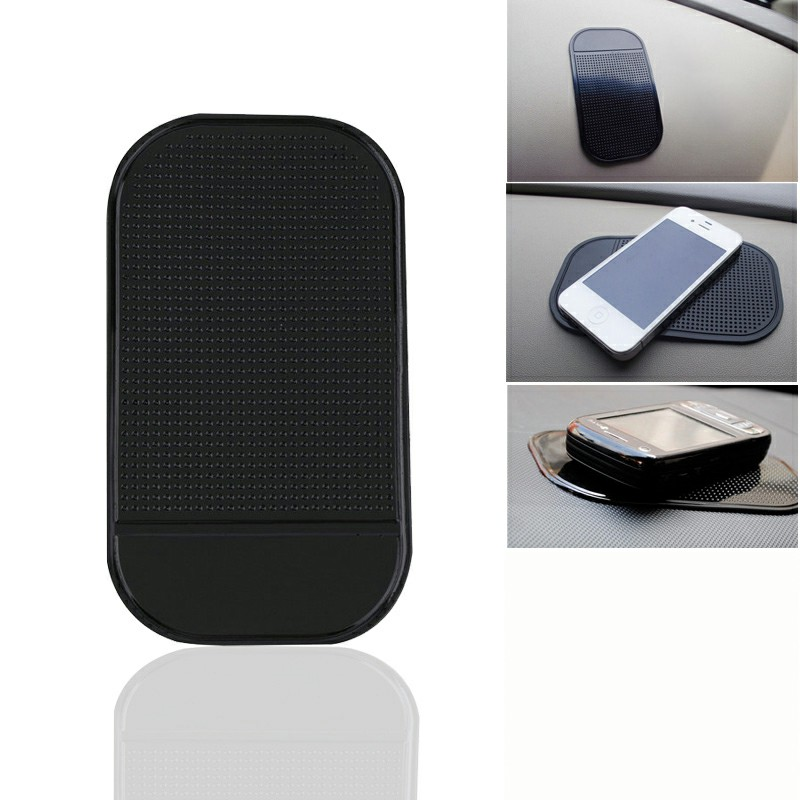 Car Dashboard Phone Pad Holder Anti-Slip Phone Sticky Holder Mat - Black