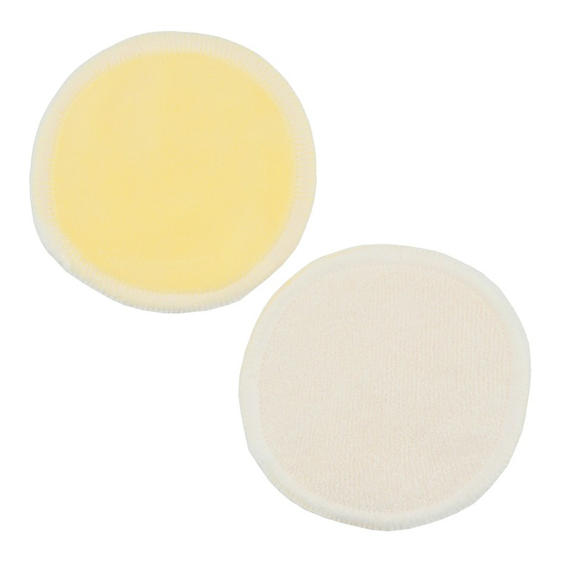 Natural Reusable Soft Gentle Makeup Remover Pads Foundation Cleaning Cotton Pad for Sensitive Skin - Yellow