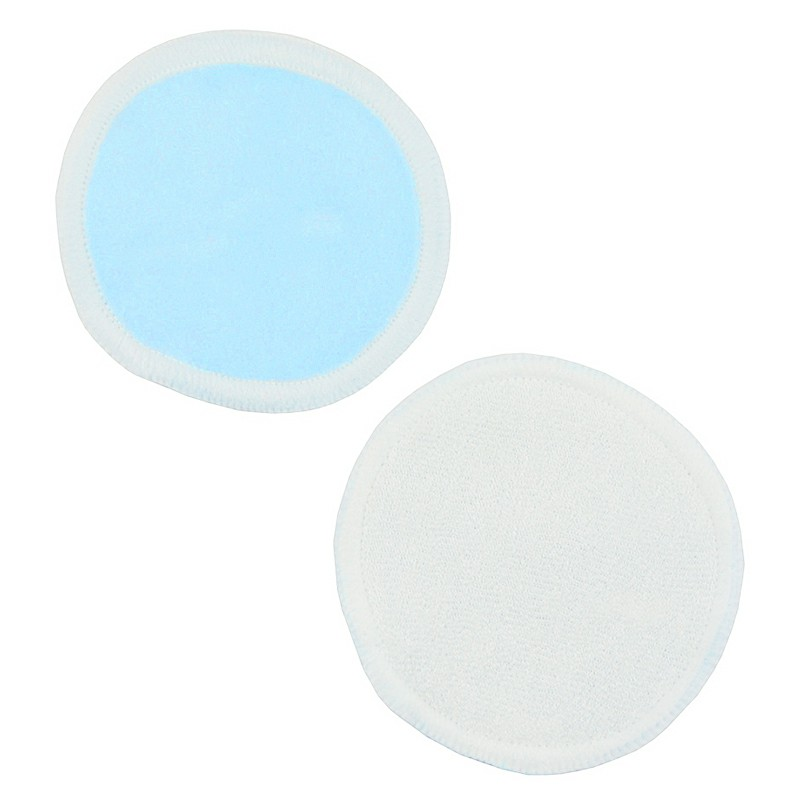 Natural Reusable Soft Gentle Makeup Remover Pads Foundation Cleaning Cotton Pad for Sensitive Skin - Blue
