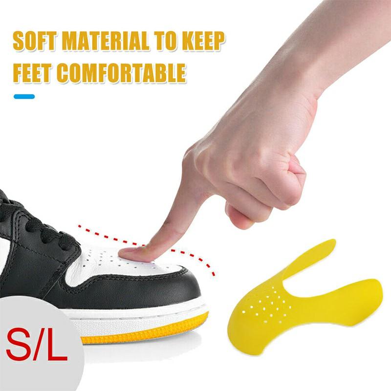 Shoe Trainer Protector Reusable Anti Crease Sneaker Shields Toe Box Decreaser for Men UK 7-12 - Yellow