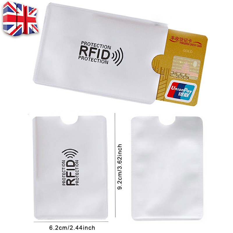 Bank Card Blocking Contactless Debit Credit Protector Sleeve Rfid Wallet Case Holder