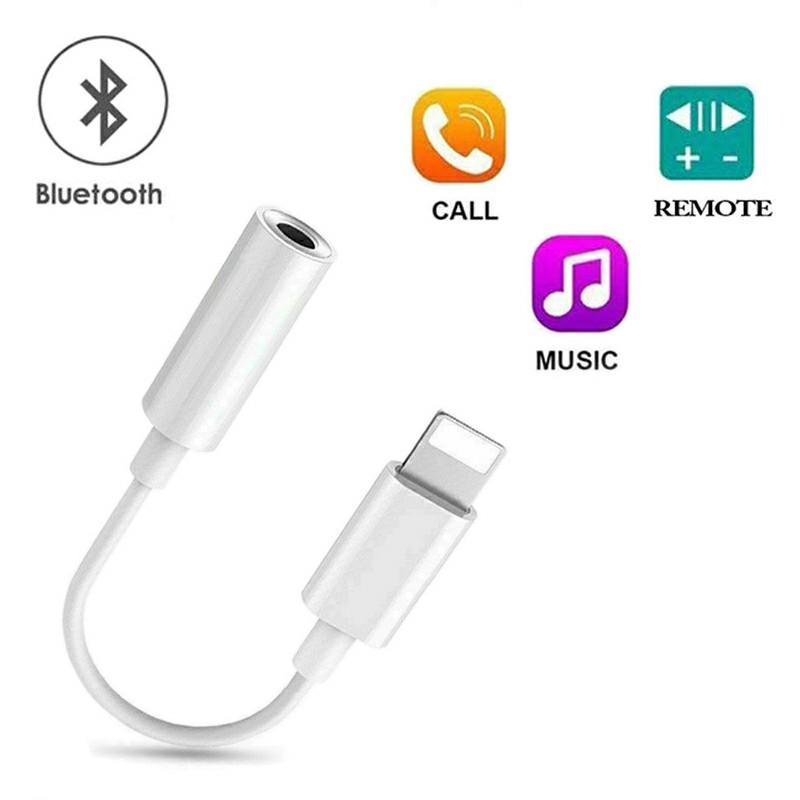 8 Pin to 3.5mm Headphone Bluetooth Jack Audio Adapter