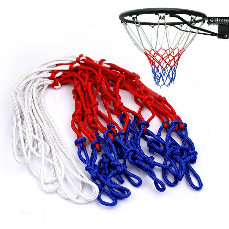 Durable Nylon Basketball Goal Hoop Net Netting - Red/White/Blue