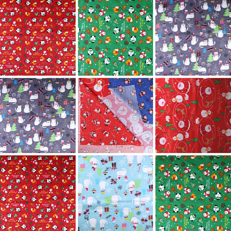 10 pcs Polycotton Fabric Sqauare Bundles Fat Quarters Crafts Christmas Fabric - 50 x 50cm