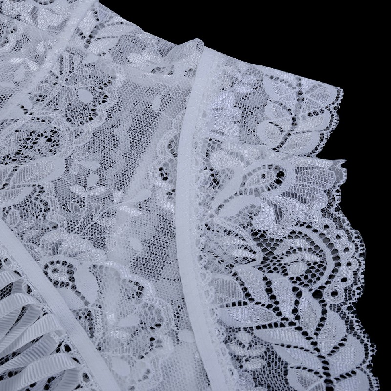 Sexy Lingerie Sexy Panties Women High-waist Lace Panties Hollow Briefs One Size - White