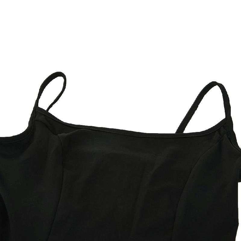 Women Ruffle Frill Mini Wrap Sling Dress Ladies Party Frill Dress - M