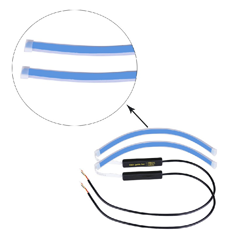 2 pcs LED Strip Turn Signal Switchback Indicator DRL Daytime Running Lights