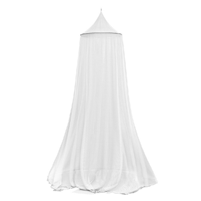 Lace Princess Dome Mosquito Net Mesh Bed Canopy Bedroom Home Decor - White
