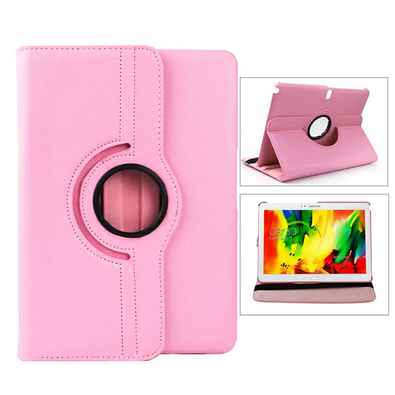360 Degree Rotating Flip Case for Samsung Galaxy Note 10.1 P600 - Pink