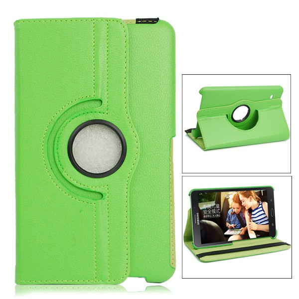 360 Degree Rotating Flip Case with Stylus Pen and Screen Film for Samsung Galaxy T330 Tab4 8.0