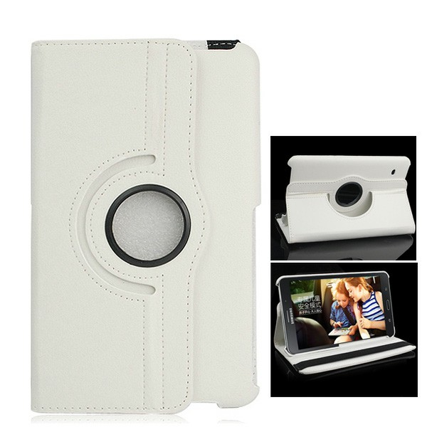 360 Degree Rotating Flip Case for Samsung Galaxy T330 Tab4 8.0 - White